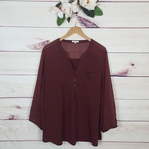 Maurices | Sheer Tunic Maroon